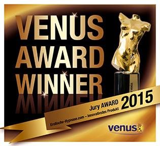 Erotische-Hypnose.com ist der Gewinner des Venus Award für das innovativste Produkt der Erotik-Branche