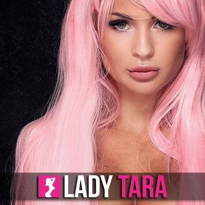 Werde süchtig danach Lady Taras Pink Maid zu sein!